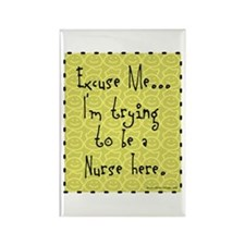 Trying to be Nurse Rectangle Magnet (100 pack)