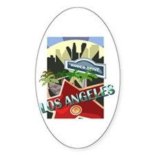 Rodeo Drive LA Oval Decal