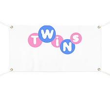 Twins (Pink/Blue) Banner