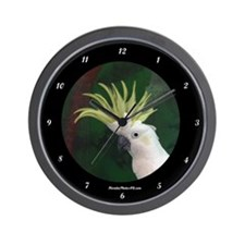 Cute Cockatoo Wall Clock