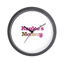 Kaylee's Mommy Wall Clock