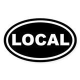 LOCAL Black Euro Oval Decal