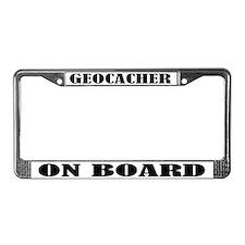 Geocacher License Plate Frame