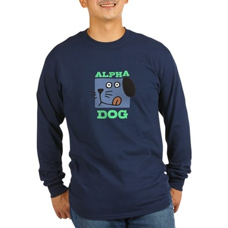 Alpha Dog Long Sleeve Dark T-Shirt