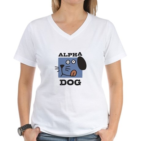 Alpha Dog Women's V-Neck T-Shirt