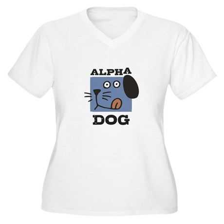 Alpha Dog Women's Plus Size V-Neck T-Shirt