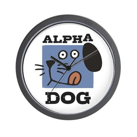 Alpha Dog Wall Clock