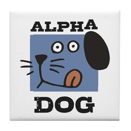Alpha Dog Tile Coaster