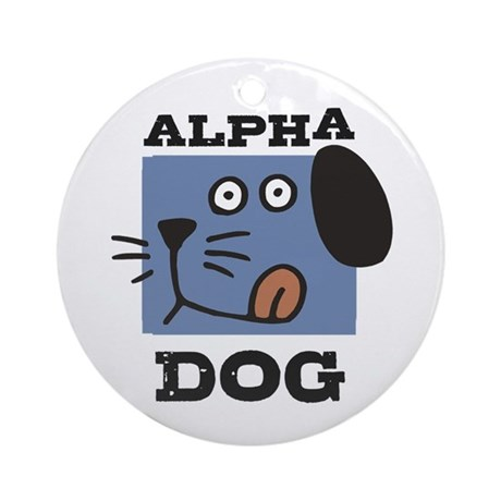 Alpha Dog Ornament (Round)