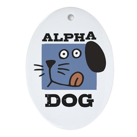 Alpha Dog Oval Ornament