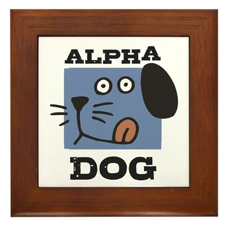 Alpha Dog Framed Tile