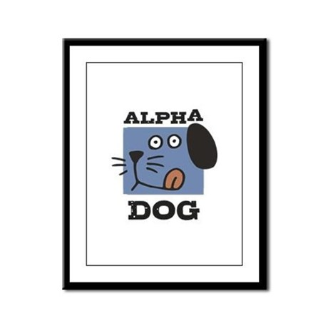 Alpha Dog Framed Panel Print