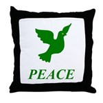 Green Dove Throw Pillow