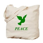Green Dove Tote Bag