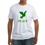 Green Dove Fitted T-Shirt