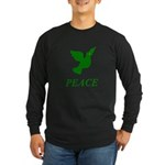 Green Dove Long Sleeve Dark T-Shirt