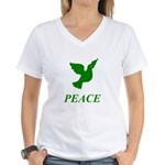 Green Dove Women's V-Neck T-Shirt