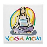 Yoga Mom Tile Coaster