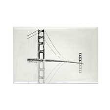 Golden Gate Faded Rectangle Magnet