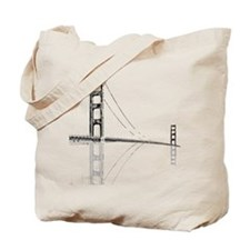 Golden Gate Faded Tote Bag