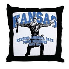 Kansas - Keeping America Safe... Throw Pillow