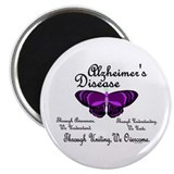"Butterfly Awareness 1 (Alzheimers) 2.25"" Magnet (1"