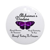 Butterfly Awareness 1 (Alzheimers) Ornament (Round