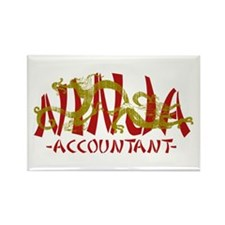 Dragon Ninja Accountant Rectangle Magnet