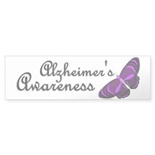 Butterfly Awareness 3 (Alzheimers) Bumper Sticker