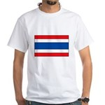 Thai Flag White T-Shirt