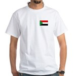 Sudanese Flag White T-Shirt