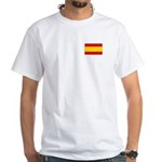 Spanish Flag White T-Shirt