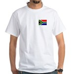 South African Flag White T-Shirt