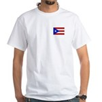 Puerto Rican Flag White T-Shirt