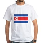 North Korean Flag White T-Shirt