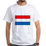 Netherlands Flag White T-Shirt