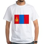 Mongolian Flag White T-Shirt
