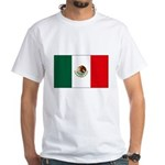 Mexican Flag White T-Shirt