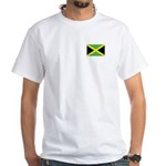 Jamaican Flag White T-Shirt