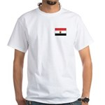 Egyptian Flag White T-Shirt