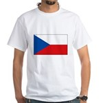Czech Flag White T-Shirt