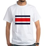 Costa Rican Flag White T-Shirt