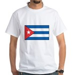 Cuban Flag White T-Shirt