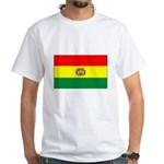Bolivian Flag White T-Shirt