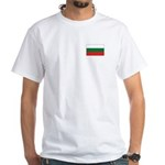 Bulgarian Flag White T-Shirt