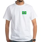 Brazilian Flag White T-Shirt