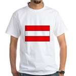 Austrian Flag White T-Shirt
