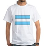 Argentina Flag White T-Shirt