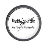 Daddy's Little Air Traffic Controller Wall Clock