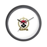 ARCENEAUX Family Crest Wall Clock
